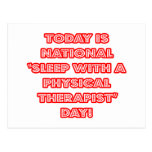 """""""Sueño con el día nacional de un terapeuta físico"""" Postal"""