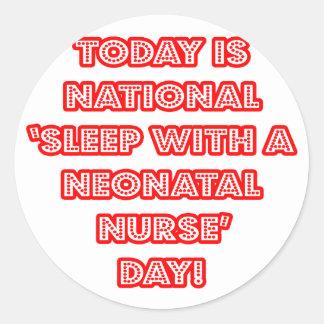 Sueño con el día nacional de una enfermera neonat pegatina