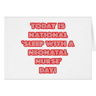 Sueño con el día nacional de una enfermera neonat tarjeta