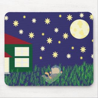Sueño con el gato Mousepad del espacio Alfombrillas De Raton