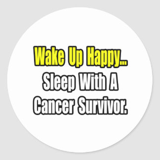 Sueño con el superviviente del cáncer pegatina redonda