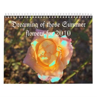 Sueño con esas flores del verano para 2010 calendario