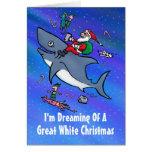 Sueño con la gran tarjeta de Navidad blanca