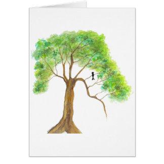 Sueño con la primavera de ilustraciones originales tarjeta de felicitación