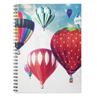 Sueño con los globos del aire caliente spiral notebook