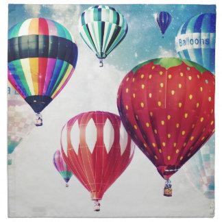 Sueño con los globos del aire caliente servilleta