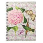 Sueño con monograma del vintage cuaderno