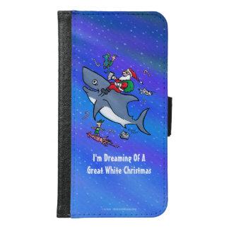 Sueño con navidad divertido el gran de un tiburón