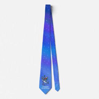Sueño con navidad divertido el gran de un tiburón corbata personalizada
