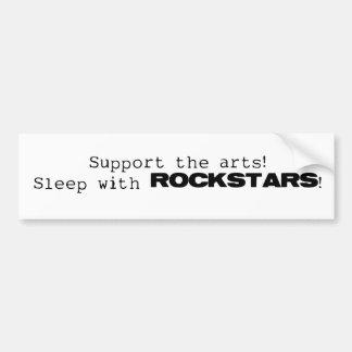 Sueño con Rockstars Pegatina De Parachoque