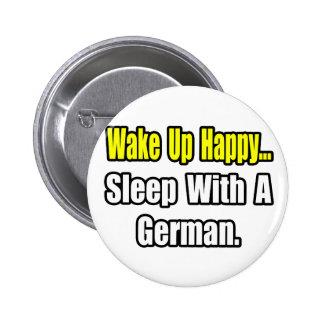 Sueño con un alemán pin redondo 5 cm
