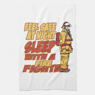 Sueño con un bombero toallas de cocina