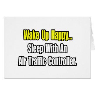 Sueño con un controlador aéreo tarjeta de felicitación