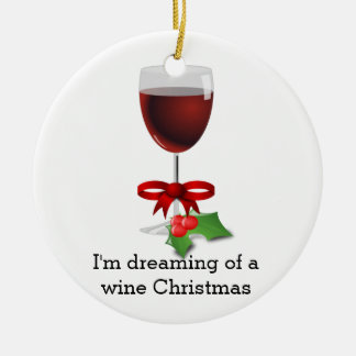 Sueño con un día de fiesta divertido del navidad adorno navideño redondo de cerámica