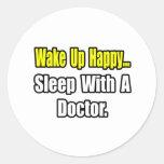 Sueño con un doctor pegatina redonda