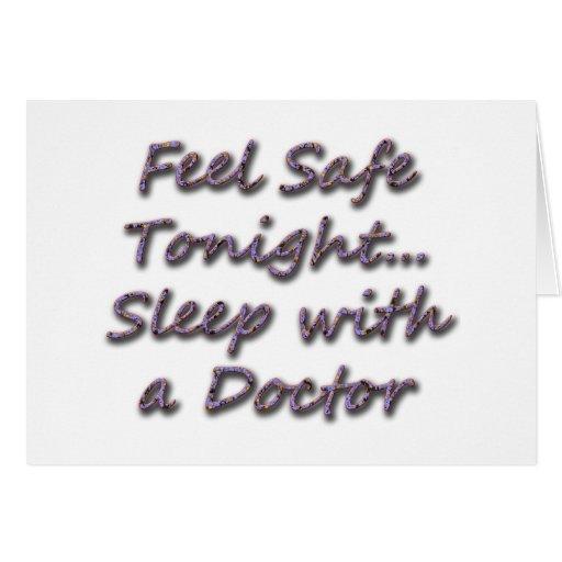sueño con un doctor tarjeta