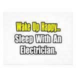 Sueño con un electricista invitacion personalizada