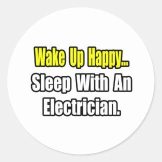 Sueño con un electricista pegatina redonda