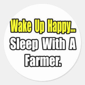 Sueño con un granjero etiqueta