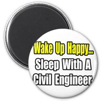 Sueño con un ingeniero civil imán redondo 5 cm