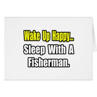 Sueño con un pescador tarjeta de felicitación