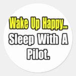 Sueño con un piloto etiquetas redondas