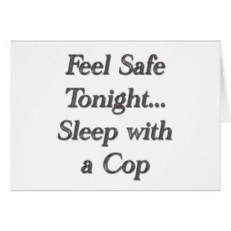 sueño con un poli tarjeta de felicitación