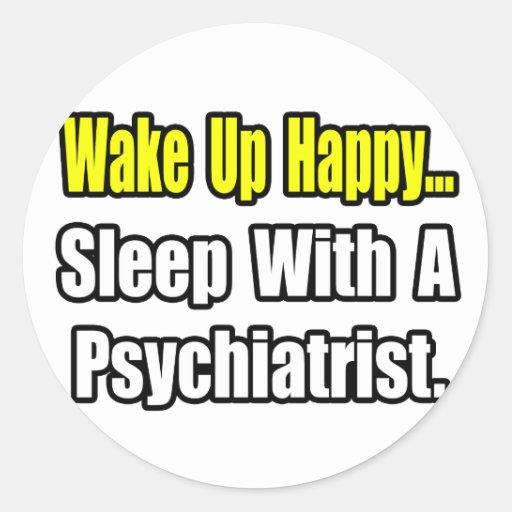 Sueño con un psiquiatra pegatina redonda
