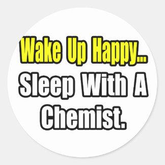 Sueño con un químico pegatina redonda