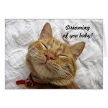 Sueño con usted bebé tarjeta