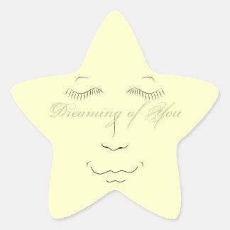 Sueño con usted pegatina de la estrella
