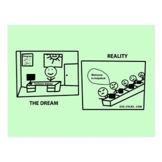 Sueño contra realidad - trabajando en ELLA Postales