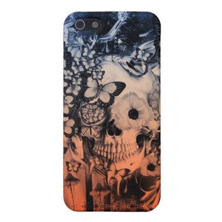 Sueño, cráneo en el ejemplo del bosque iPhone 5 protectores