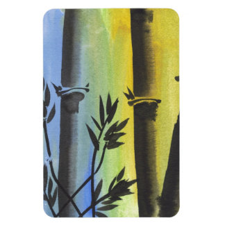 Sueño de bambú imanes rectangulares