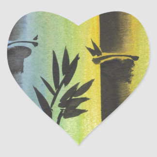 Sueño de bambú calcomanía corazón personalizadas