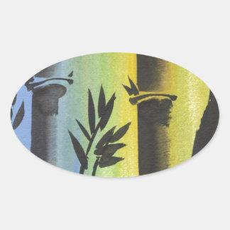 Sueño de bambú colcomanias de oval