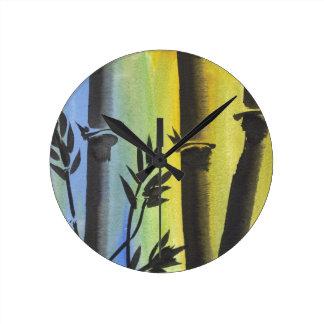 Sueño de bambú relojes de pared