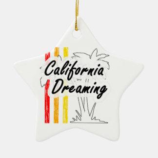 Sueño de California Adorno Navideño De Cerámica En Forma De Estrella
