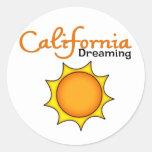 Sueño de California Etiquetas Redondas