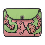 Sueño de Caterpillar (grn/coral) Fundas Macbook Pro