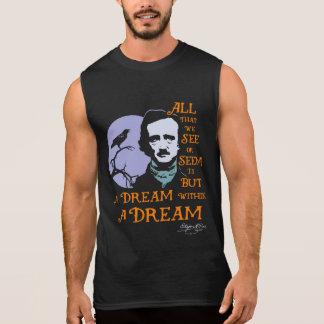 Sueño de Edgar Allan Poe dentro de una cita ideal Camisetas Sin Mangas