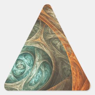 Sueño de Júpiter Pegatina Triangular