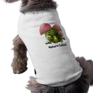 Sueño de la camiseta del mascota de la rana playera sin mangas para perro