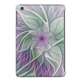 Sueño de la flor, arte abstracto del fractal carcasa para iPad mini