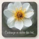 Sueño de la flor blanca; Personalizable Posavaso