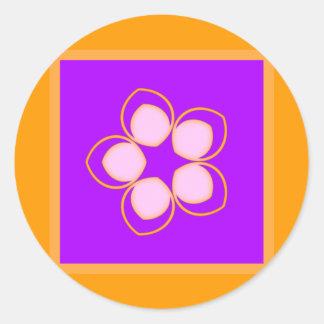 Sueño de la flor del animado de Lotus Pegatina Redonda