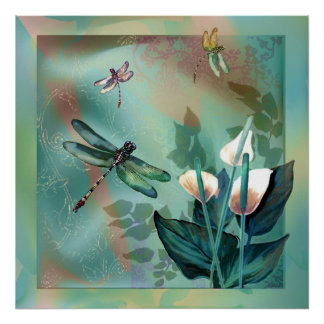 Sueño de la libélula póster