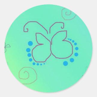 Sueño de la mariposa pegatina redonda