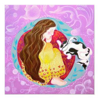 Sueño de la mujer y del gato