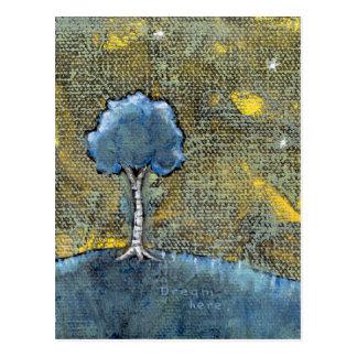 Sueño de la pintura moderna del arte del árbol postales